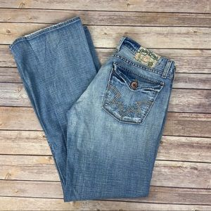 LUCKY BRAND Low Rise Button fly bootcut jeans